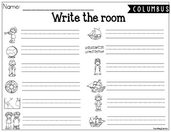 Christopher Columbus Write the Room