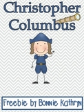 Christopher Columbus Write the Room Freebie