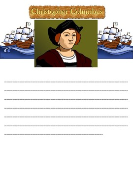 Christopher Columbus Writing Paper - Editable!
