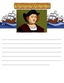 Christopher Columbus Writing Paper - Editable!