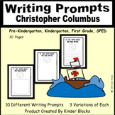 Christopher Columbus Writing Prompts for Pre-K, Kindergarten, or First Grade