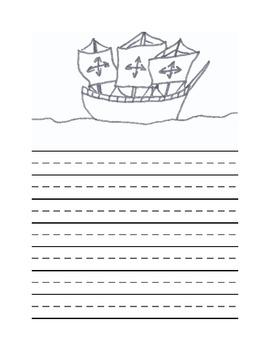 Christopher Columbus Writing Template #2