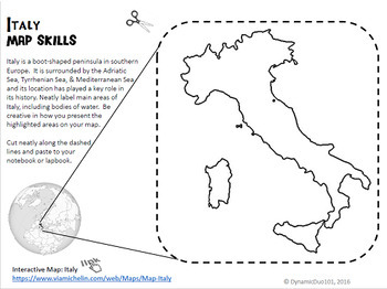 Christopher Columbus and Italy Interactive Notebook Activities Bundle {CCSS}