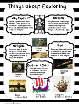 Christopher Columbus and Other Explorers Reading Comprehension 2nd and 3rd Grade