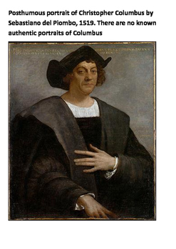 Christopher Columbus and the Santa Maria Word Search