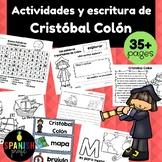 Christopher Columbus in Spanish (Cristobal Colon actividades y escritura)