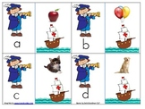 Christopher Columbus lower case letter to initial sound picture Match game