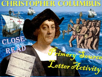 Christopher Columbus primary Source Letter Activity