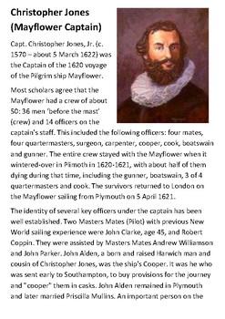 Christopher Jones (Mayflower Captain) Handout