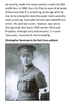 Christopher Nevinson Handout