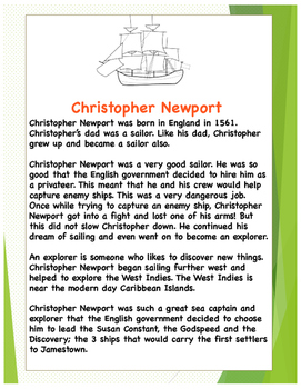 Christopher Newport Lesson