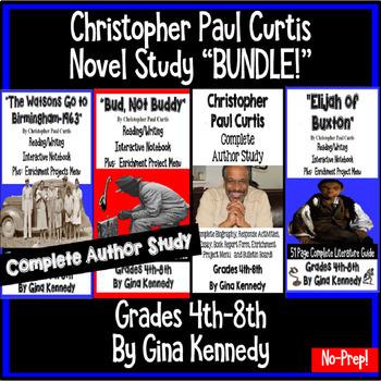 """Christopher Paul Curtis """"Bundle"""", Two Complete Novel Studies, Plus: Author Study"""