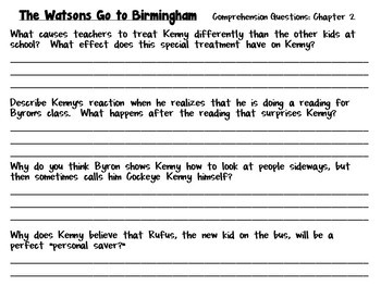 the watsons go to birmingham 1963 a complete novel study tpt. Black Bedroom Furniture Sets. Home Design Ideas
