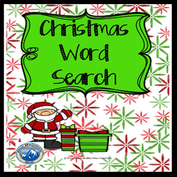 Christmas Word Search Freebie