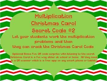 Christtmas Carol Single Digit Multiplication Secret Code #