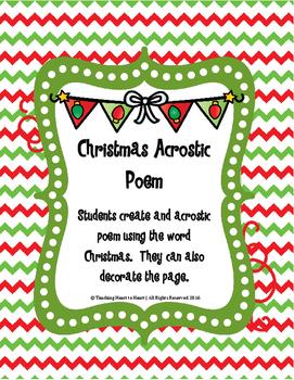 Christmas Holiday Acrostic Poem