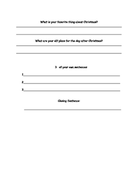 Chritsmas Writing Pack