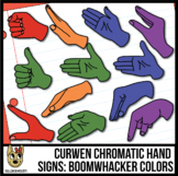 Chromatic Curwen/Kodaly Hand Sign Clip Art: Boomwhacker Colors