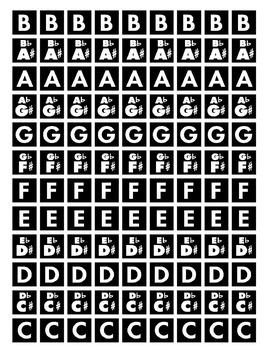 Chromatic Note Tile Sheet