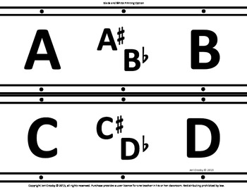 Chromatic Scale Chart, Board Runner, Border or Bulletin Board