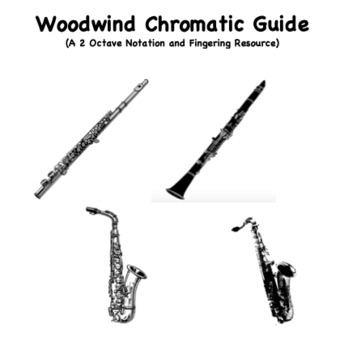 Chromatic Scale Fingering Guide - Woodwind Bundle