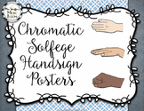 Chromatic Solfege Hand Sign Posters {Grey & Blue}