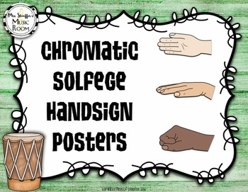 Chromatic Solfege Hand Sign Posters {Hawaiian Tiki Beach}