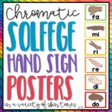 Chromatic Solfege Hand Sign Posters - Rainbow Color Borders