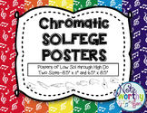 Chromatic Solfege Posters Curwen Hand Signs Rainbow Colors