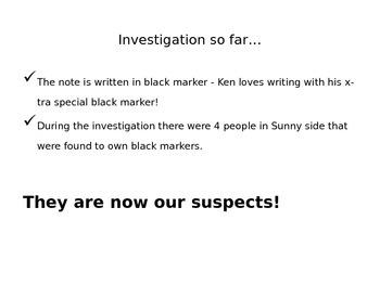 Chromatography Crime Scene Investigation Ken is missing! Lab