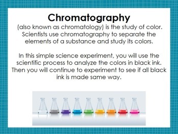 Science Experiment: Chromatography