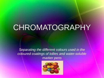 Chromatography of Food-Safe dyes and Colored Inks