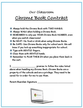 Chrome Book Contract