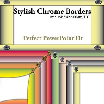 Chrome Borders for PowerPoint Presentations - Clip Art
