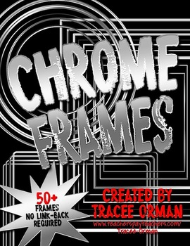 Chrome Clipart Frames & Shapes for Commercial Use