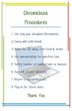 Chromebook Cart Procedures Poster