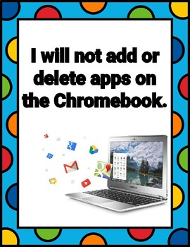 Chromebook Classroom Rules Posters