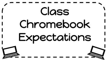 Chromebook Expectations Printable- 6 simple rules!