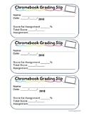Chromebook/ Internet Grading Slip: Editable