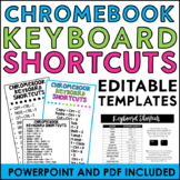 Editable Chromebook Keyboard Shortcuts Cards and Posters