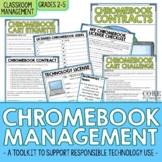Editable Chromebook & Laptop Rules Contract and Student Tr