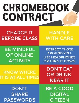 Chromebook Rules / Chromebook Contract Posters and Signable Contracts!