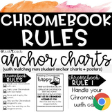 Chromebook Rules - Keeping Chromebooks Happy Anchor Chart Posters