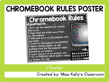 Chromebook Rules Poster