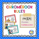 Chromebook Rules Posters {Editable}