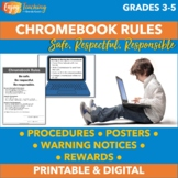 Chromebook Rules, Posters, Warning Notices & Rewards