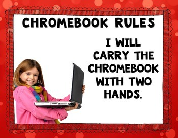 Chromebook Rules Posters {real photographs & editable}