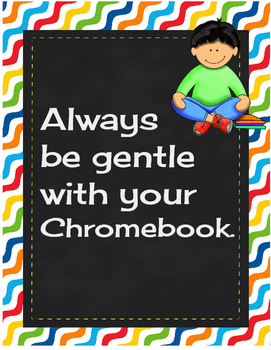 Chromebook Rules Primary Colors