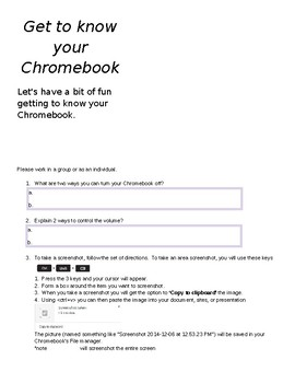 Chromebook Scavenger Hunt 1:1