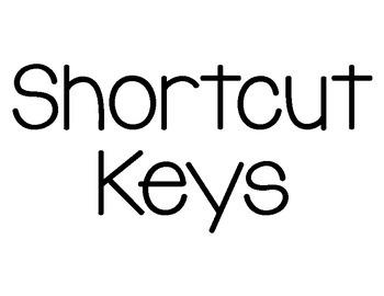 Chromebook Shortcut Keys Posters